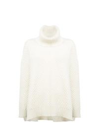 weißer Strick Oversize Pullover von Adam Lippes