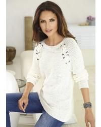 weißer Strick Oversize Pullover von ALESSA W.
