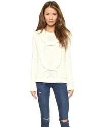 weißer Strick Oversize Pullover von Eleven Paris