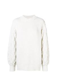 weißer Strick Oversize Pullover von Fine Edge