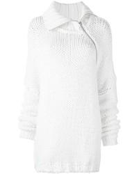 weißer Strick Oversize Pullover von MARQUES ALMEIDA