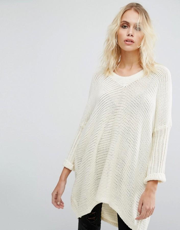 weißer Strick Oversize Pullover von Noisy May   Wo zu kaufen und wie ... 882edae07a
