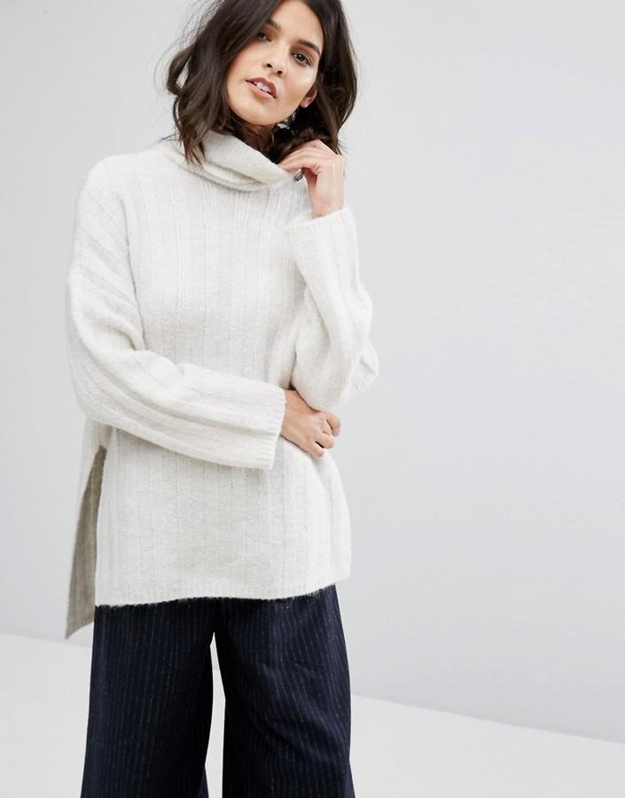 weißer Strick Oversize Pullover von Selected   Wo zu kaufen und wie ... 597eb4e839