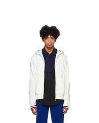 weißer Strick Pullover mit einem Kapuze von Moncler