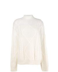 weißer Strick Rollkragenpullover von Maison Margiela