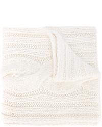 weißer Strick Schal von Maison Margiela