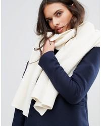 weißer Strick Schal von Vila