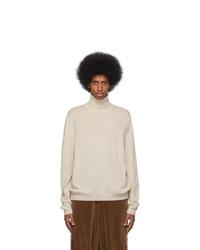 weißer Strick Wollrollkragenpullover von Gucci