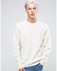 Weißer Strickpullover von Asos