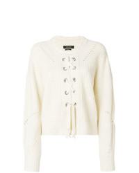 weißer Strickpullover von Isabel Marant