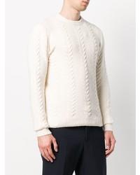 weißer Strickpullover von Nuur