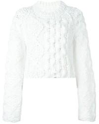 weißer Strickpullover von Maison Margiela