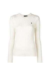 weißer Strickpullover von Polo Ralph Lauren