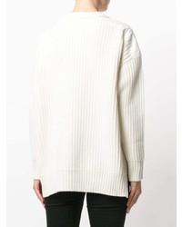 01786e93c7 weißer Strickpullover von Moncler, €650 | farfetch.com | Lookastic