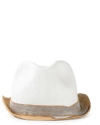 weißer Strohhut von Brunello Cucinelli