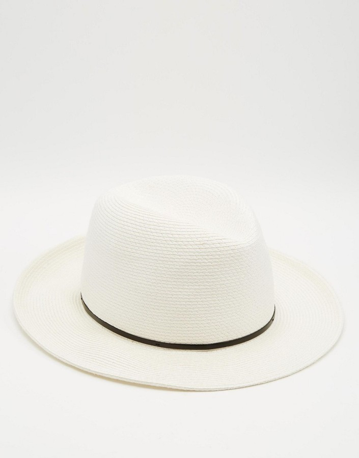 weißer Strohhut von Catarzi