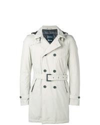 weißer Trenchcoat