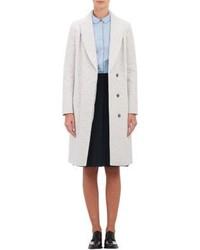 weißer Tweed Mantel