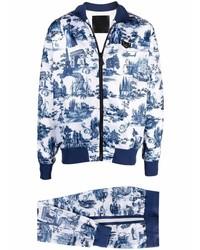 weißer und dunkelblauer Trainingsanzug von Philipp Plein