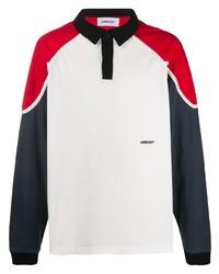 weißer und roter und dunkelblauer Polo Pullover von Ambush