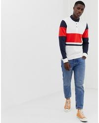 weißer und roter und dunkelblauer Polo Pullover von ONLY & SONS