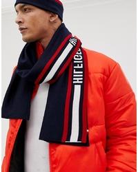 weißer und roter und dunkelblauer Schal von Tommy Hilfiger