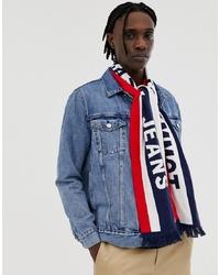 weißer und roter und dunkelblauer Schal von Tommy Jeans