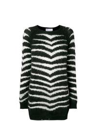 weißer und schwarzer bedruckter Oversize Pullover von RED Valentino