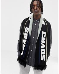 weißer und schwarzer bedruckter Schal von ASOS DESIGN
