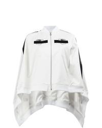 weißer und schwarzer bestickter Cape Mantel von Anrealage