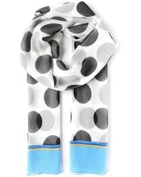 Weißer und schwarzer gepunkteter Schal