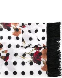 weißer und schwarzer gepunkteter Schal von Twin-Set