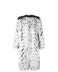 weißer und schwarzer horizontal gestreifter Pelz von Givenchy