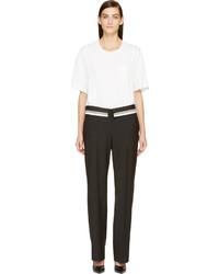 weißer und schwarzer Jumpsuit von Maison Margiela