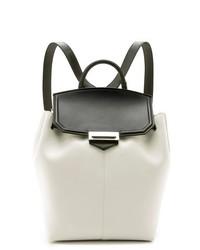 weißer und schwarzer Leder Rucksack von Alexander Wang