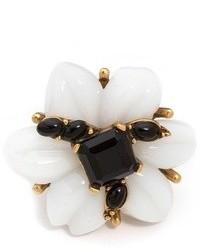 weißer und schwarzer Ring von Oscar de la Renta