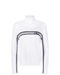 weißer und schwarzer Rollkragenpullover von Gcds