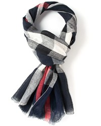 weißer und schwarzer Schal mit Karomuster von Burberry
