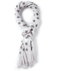weißer und schwarzer Schal