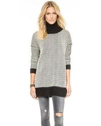 weißer und schwarzer Strick Oversize Pullover von Glamorous