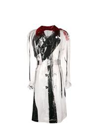 weißer und schwarzer Trenchcoat von Maison Margiela