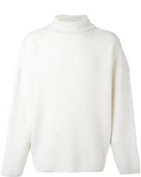 weißer Wollrollkragenpullover von AMI Alexandre Mattiussi