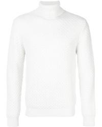 weißer Wollrollkragenpullover von Eleventy