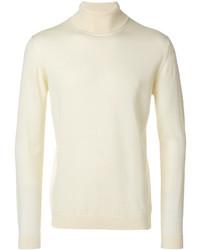 weißer Wollrollkragenpullover von Roberto Collina