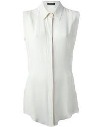 weißes ärmelloses Hemd