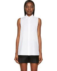 weißes ärmelloses Hemd von Acne Studios