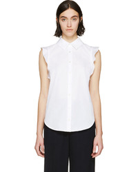 weißes ärmelloses Hemd von Stella McCartney