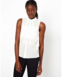 weißes ärmelloses Hemd von Vero Moda