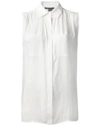weißes ärmelloses Hemd von Vince