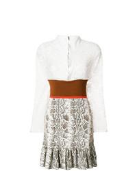 weißes ausgestelltes Kleid aus Spitze von Chloé